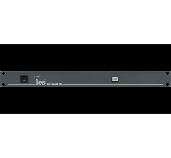 Les SW-21VAS2-REL Релейный коммутатор 2 в 1 для HD/SD-SDI или CVBS видео и аналоговых стерео симметричных звуковых сигналов. Управление с лицевой панели и по GPI, релейный обход.