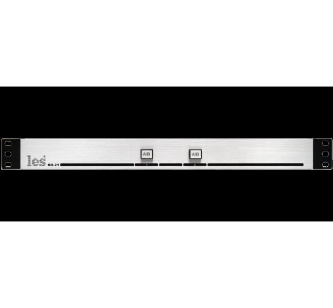 Les KR-21 Пассивная панель управления сигналами GPI (замыкание контактной пары). 2 кнопки с фиксацией, 2 выхода, без БП.