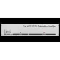 """Les DS-14HDA-10 Усилитель-распределитель 1 в 4 HD/SD-SDI и DVB-ASI сигналов. Reclocking, релейный обход, корпус 10""""."""