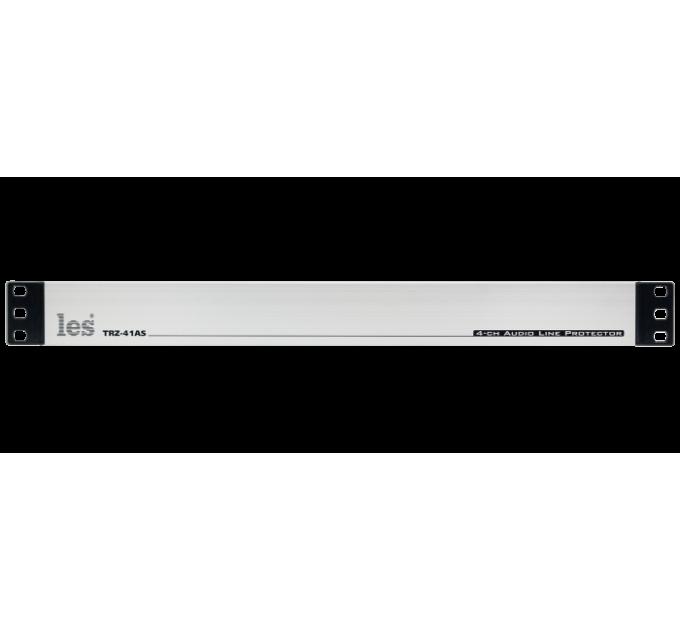 Les TRZ-41AS 4 канальный блок грозозащиты c изолирующей трансформаторной развязкой для симметричных аналоговых аудиосигналов.
