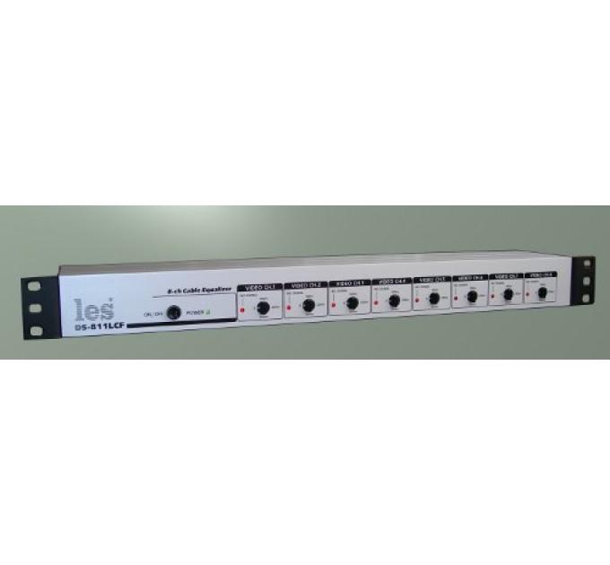 Les DS-811LCF 8 канальный кабельный корректор. Коррекция длины кабеля до 300 м.