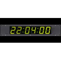 """Les KU-82LTC Панель индикации времени, шесть семи сегментных символов, корпус 19"""" 2RU, входы LTC, IP, GPI."""