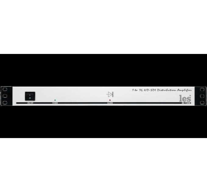 Les DS-116HD-REL Усилитель-распределитель 1 в 16 для HD/SD-SDI видеосигналов. Reclocking, релейный обход.