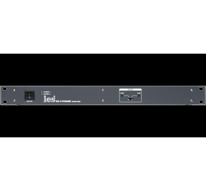 Les DS-2168ASK Сумматор-разветвитель для 4 проводной системы служебной связи 1 - 16 или 2 канала 1 - 8. 2 БП.