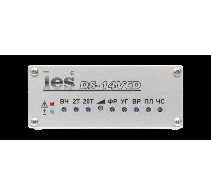 Les DS-14VCD Кабельный корректор для CVBS видеосигналов. Коррекция длины кабеля до 1500 м, эффективное фоноподавление, 4 выхода, компактный корпус.