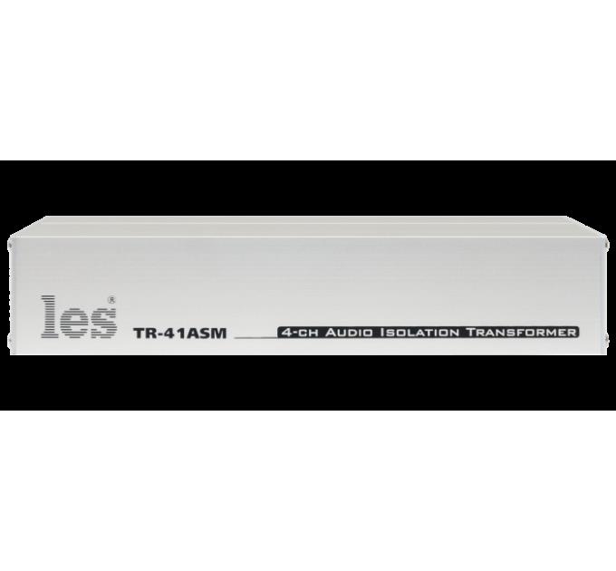 """Les TR-41ASM 4 канальный блок изолирующих трансформаторов для аналоговых симметричных аудиосигналов. Магнитный экран, корпус 10""""."""