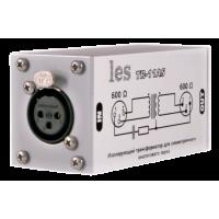 Les TR-11ASM Изолирующий трансформатор для аналоговых симметричных аудиосигналов. Магнитный экран, компактный корпус.