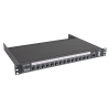 Les LPCU-14XFE Устройство распределения питания с двумя вводами powerCON. Автоматическое и ручное переключение, управление по IP, 14 выходов IEC C13 + предохранители.