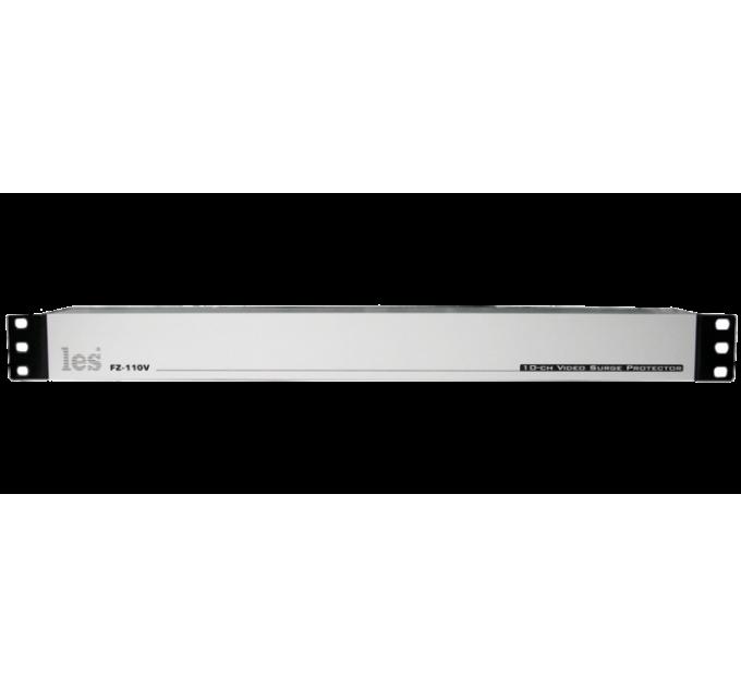 Les FZ-110V 10 канальный блок грозозащиты для линий композитных CVBS видеосигналов. Разъемы BNC.