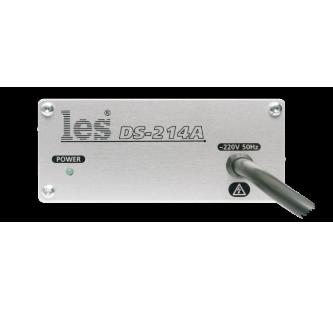 Les DS-214A Усилитель-распределитель 1 в 4 стерео несимметричных аудиосигналов. Выходные разъёмы RCA, компактный корпус.