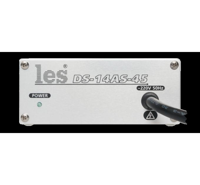 Les DS-14AS-45 Усилитель-распределитель 1 в 4 стерео несимметричных аудиосигналов. Выходы симметричные, разъёмы RJ-45, компактный корпус.