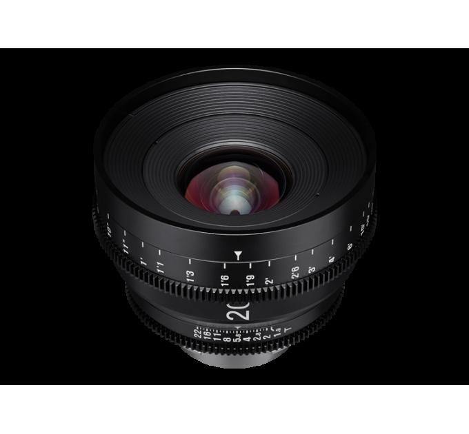 XEEN 20mm T1.9 FF CINE Lens MFT кинообъектив с алюминиевым корпусом