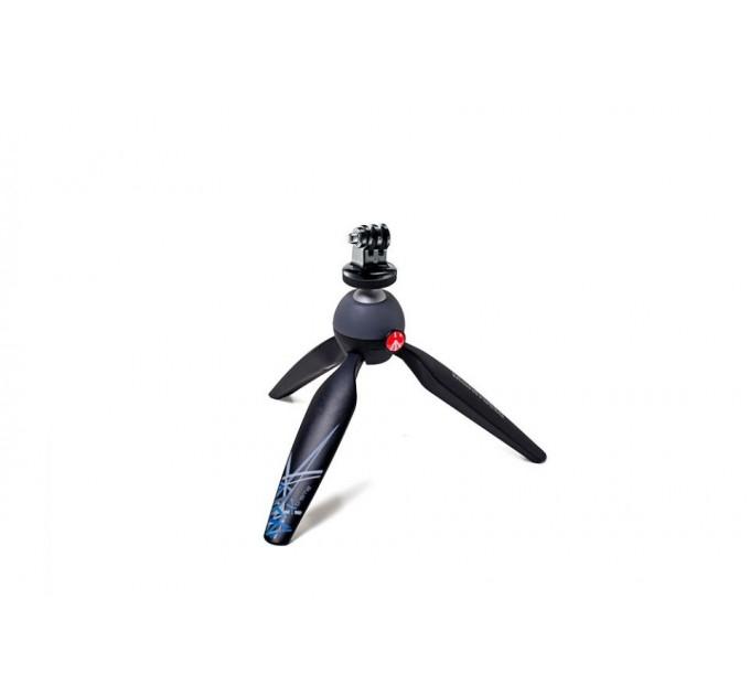 Мини-штатив, черный, с адаптером  крепления для GoPro