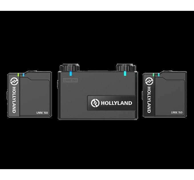 Hollyland Lark 150 DUO Wireless microphones(2TX+1RX) 300ft Беспроводная микрофонная система. Дальность действия до 100 м в условиях прямой видимости